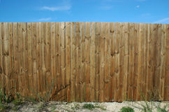 Pine fence Royalty Free Stock Photos