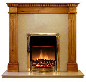 Pine Fire Surround Stock Photos
