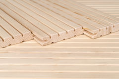 Pine floorboards Stock Photo