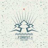 Pine forest emblem Stock Image