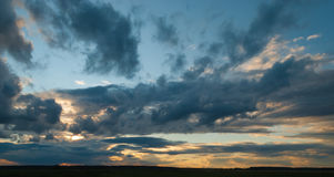Sunset clouds. Summer, evening, Belarus royalty free stock images