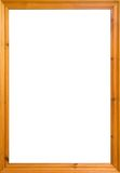 Pine frame. Wooden frame with white isolated area. Could also be used as a whiteboard Stock Photography