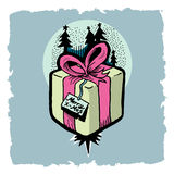 Pine and gifts illustration Stock Photography