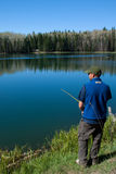 Pine Lake Fishing Royalty Free Stock Photo