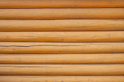 Pine log wall Royalty Free Stock Photography