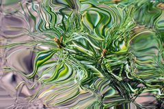 Pine needles abstracted in tones of green and purple. Pine needles abstracted and marbleized in tones of green and purple Stock Illustration