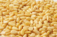 Pine nut background Royalty Free Stock Photos