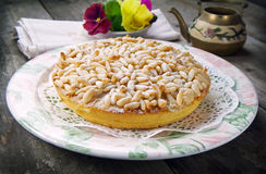 Pine nut cake Royalty Free Stock Photography