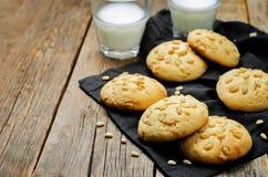 Pine nuts cookies. Italian cuisine Stock Images