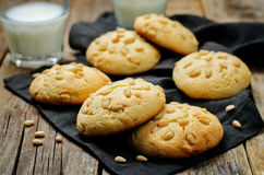 Pine nuts cookies. Italian cuisine Royalty Free Stock Photography