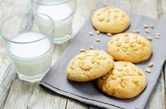 Pine nuts cookies. Italian cuisine Stock Photos