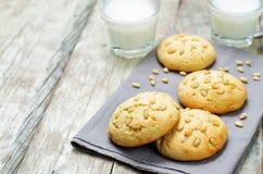 Pine nuts cookies. Italian cuisine Royalty Free Stock Photo