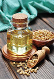 Pine nuts oil Royalty Free Stock Images
