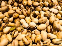 Pine nuts photographed as a background stock photography