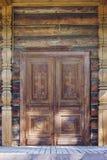 Pine old door Stock Photography