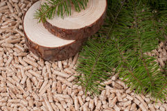 Pine pellets Stock Photography