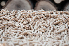 Pine Pellets- Biomass Royalty Free Stock Photos