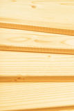 Pine planks stacked Royalty Free Stock Images