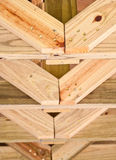 Pine Roof Trusses Royalty Free Stock Photography