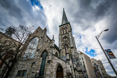 Pine Street Presbyterian Church, in downtown Harrisburg, Pennsyl Stock Photos