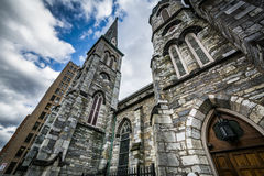 Pine Street Presbyterian Church, in downtown Harrisburg, Pennsyl Stock Photo