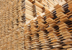 Pine Timber Planks Drying Royalty Free Stock Photos