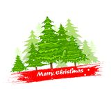 Pine Tree in Christmas Background Royalty Free Stock Images