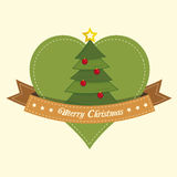 Pine tree christmas label Royalty Free Stock Photos