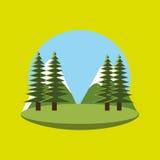 Pine tree design Royalty Free Stock Photo