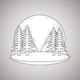 Pine tree design Stock Photography