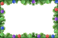 Pine tree frame Royalty Free Stock Photo