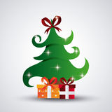 Pine tree and gifts design. Merry Christmas.  graphic Royalty Free Stock Photos