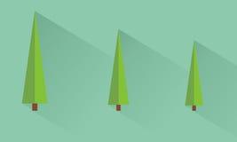 Pine tree. Icon pine tree flat design Stock Photo