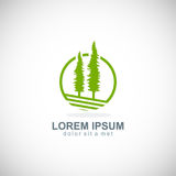 Pine tree icon vector logo Stock Image