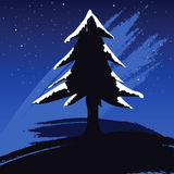 Pine tree. Illustration of a snowy pine tree Royalty Free Stock Images