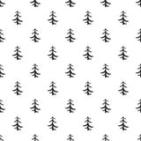 Pine tree pattern, simple style Stock Photo