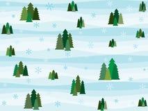 Pine Tree Pattern. Vector illustration Stock Photography