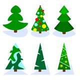 Pine Tree Set royalty free illustration