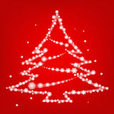 Pine Tree snowflake sparkle christmas background Stock Photos
