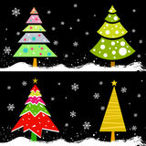 Pine tree vector Royalty Free Stock Images