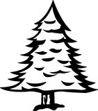 Pine tree vector illustration Royalty Free Stock Photos