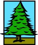 Pine tree vector illustration Royalty Free Stock Photos