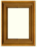 Pine wood picture frame Royalty Free Stock Photo