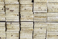 Pine wood plank in vertical row. Pine wood plank stacking in vertical row Stock Photography