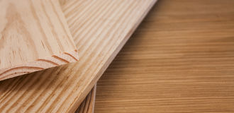 Pine wood planks Royalty Free Stock Image