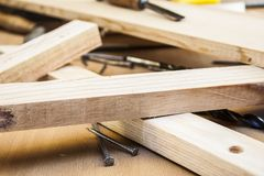 Pine wood planks Royalty Free Stock Images