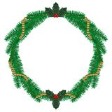 Pine wreath Stock Images