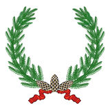 Pine wreath Royalty Free Stock Photography