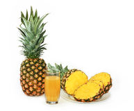Pineapple. Ripe fruits of pineapple, are a basis for juice manufacture Royalty Free Stock Image