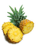 Pineapple. Slice isolated on white background with shadow royalty free stock photography